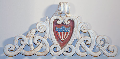 Patriotic Shield Wood Carving